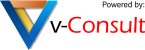 v-consult logo powered by